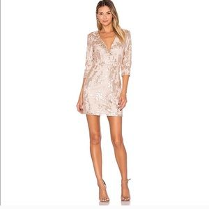 Lovers + Friends Fading Winter Lace & Sequin Dress